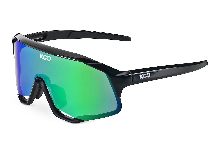 Очки солнцезащитные Koo DEMOS (black/green mirror)