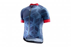 Katusha SUPERLIGHT JERSEY SS peacoat AOP